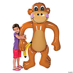 Plastic Inflatable Jumbo Monkey