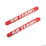"12 Inflatable ""Go Team!"" Noisemaker Sticks"