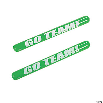 Green Inflatable Go Team Noisemaker Sticks