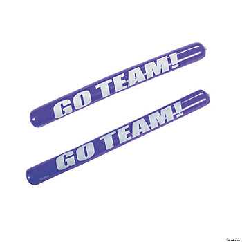 Purple Inflatable Go Team Noisemaker Sticks