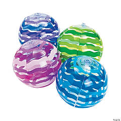 Inflatable Striped Mini Beach Balls