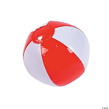 Inflatable Mini Red & White Beach Balls
