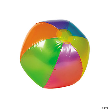 Inflatable Metallic Beach Ball