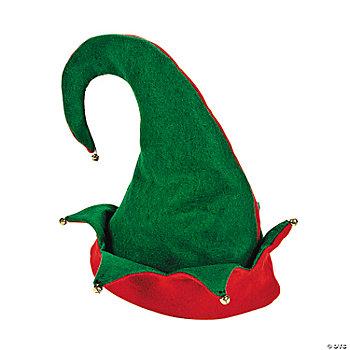 Adult's Elf Hat. This felt hat has dangling metal jingle bells to make some ...