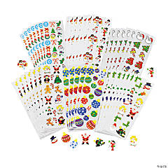 Holiday Sticker Sheet Assortment - 100 sheets