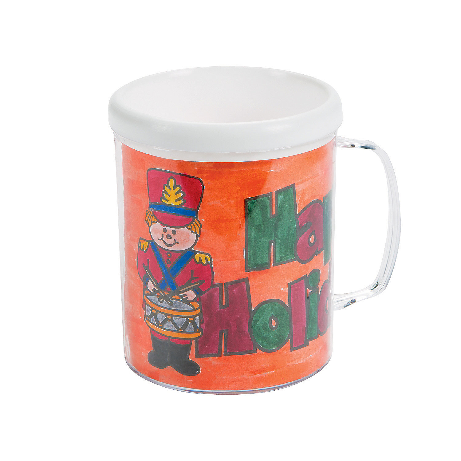 Color your own holiday mugs oriental trading for Coffee mug craft kit