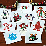 Glitter Holiday Tattoos