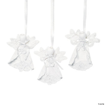 Battenburg-Trimmed Angel Ornaments