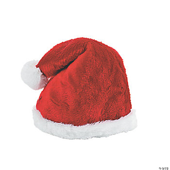 Plush Santa Adult's Deluxe Hat