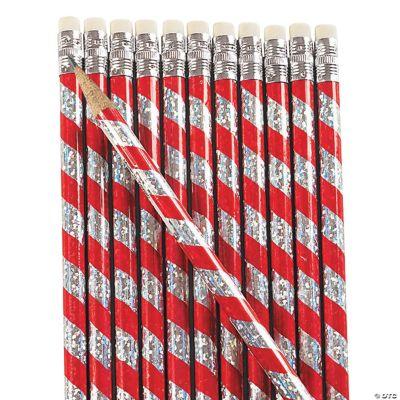 Candy Cane Prism Pencils