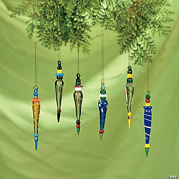 Multicolor Icicle Ornaments