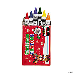 6-Color Holiday Crayons (24 Boxes)