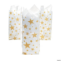 Gold Star Frosted Bags