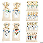 Painted Canvas Snowman Gift Bags