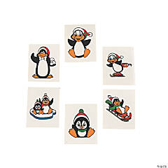 72 Glitter Penguin Tattoos
