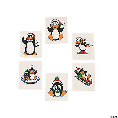 Glitter Penguin Tattoos