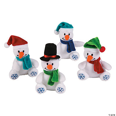 Plush Bean Bag Snowflake Snowmen