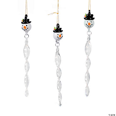 Snowman Icicle Christmas Ornaments
