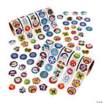 Holiday Stickers on a Roll Assortment - 10 rolls