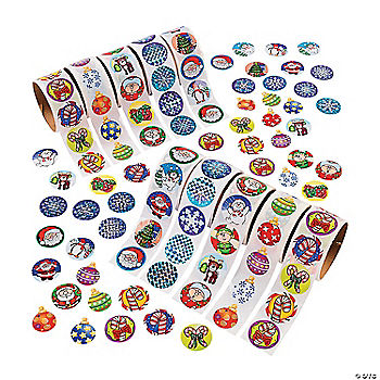 Holiday Rolls Of Stickers Assortment 10 Rolls