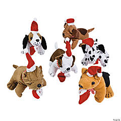 Plush Realistic Holiday Dogs