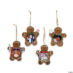 Gingerbread Man Photo Frame Ornaments
