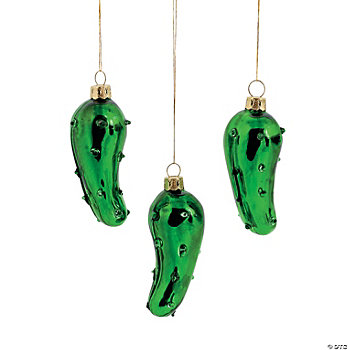 Handblown Glass Pickle Ornaments