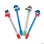 Snowman Eraser Sticks