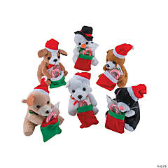 Plush Holiday Characters with Candy Canes