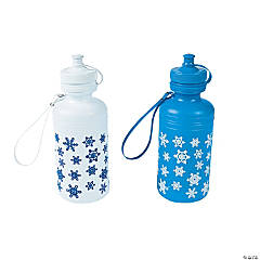 Snowflake Water Bottles