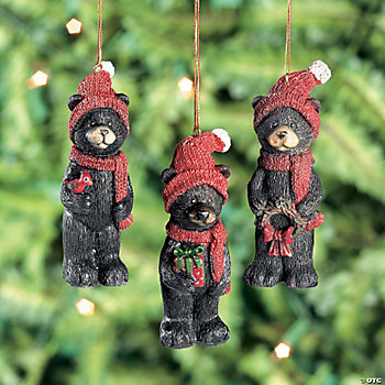 Resin Black Bear Ornaments