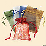 Small Sheer Mesh Drawstring Gift Bags