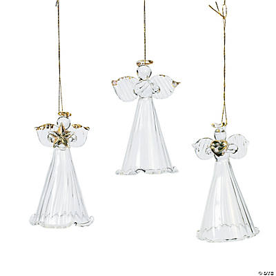Spun Glass Angel Ornaments
