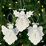 Antique White Angel Ornaments