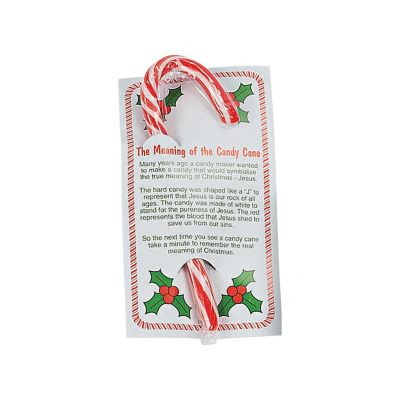 24 Carded Christian Christmas Candy Canes