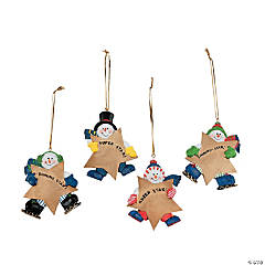 Snowman Star Customizable Christmas Ornaments