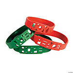 Rubber Holiday Cutout Bracelets