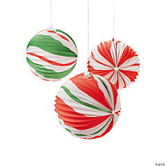 Peppermint Candy Paper Lanterns