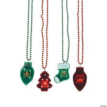 Holiday Light-Up Necklaces - Oriental Trading