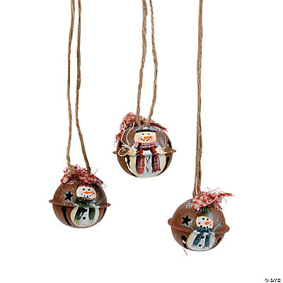 Mini Rustic Jingle Bell Christmas Ornaments