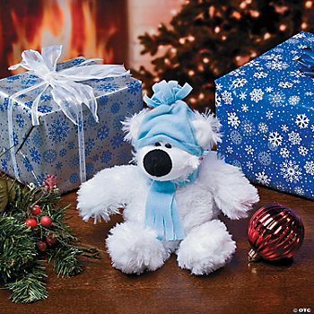 Plush Small Holiday Polar Bear