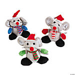 Plush Christmas Mice with Mittens