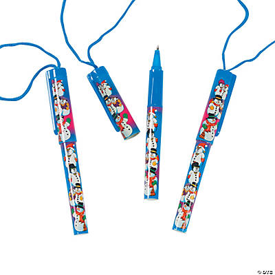 Snowmen Pens on A Rope