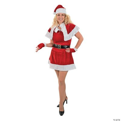 Holiday Miss Santa Claus Costume - Adult Women's