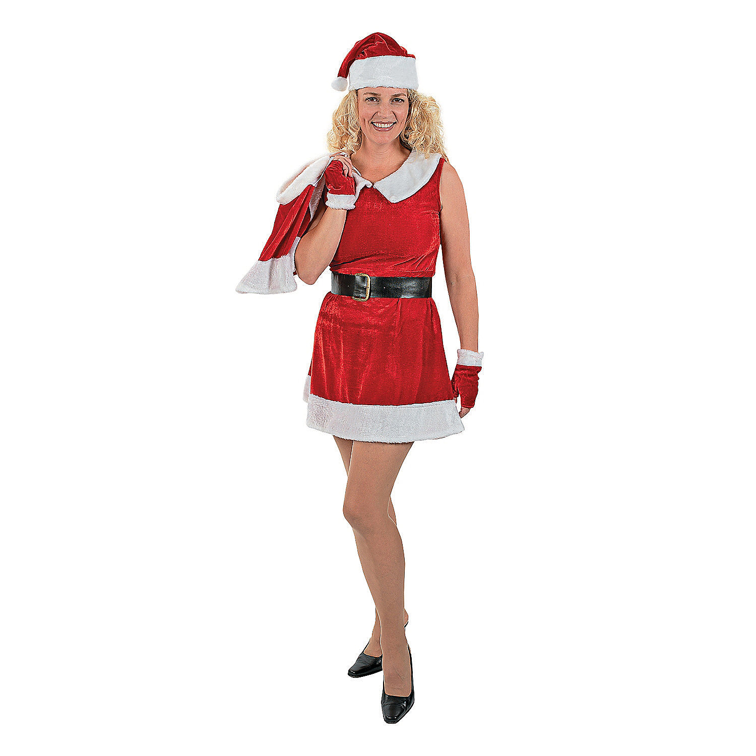 Holiday miss santa claus costume adult women s