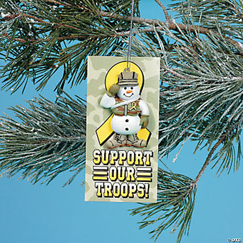 """Support Our Troops!"" Ornaments With Card"