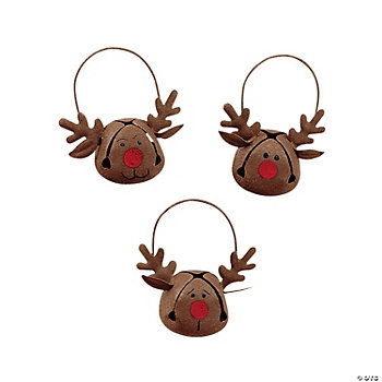 Jingle Bell Reindeer Ornaments
