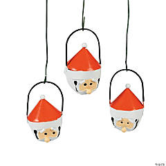 Santa Jingle Bell Christmas Ornaments
