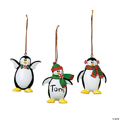 Penguin Ornaments - 12 pcs.