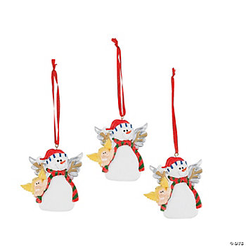 Snowman Angel Ornaments